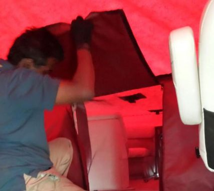 Boat cover installation