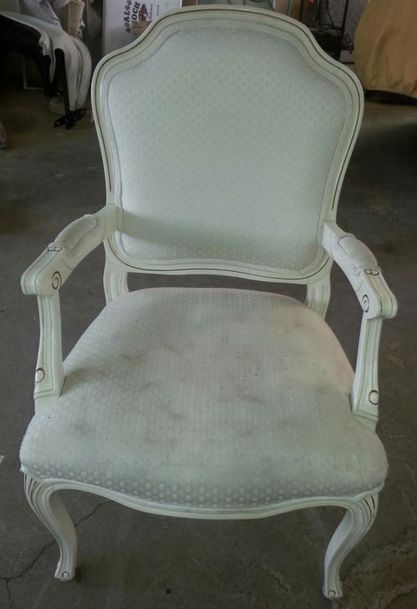 Upholstered chair before