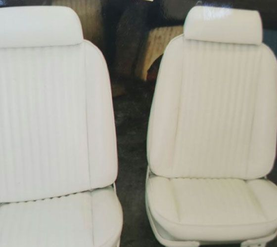 New white leather seats